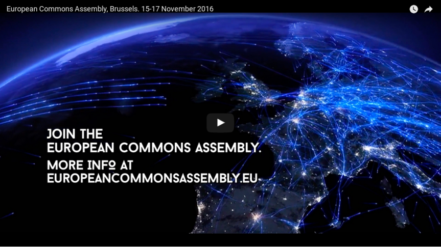 'Wednesday Commonsday' video series #1: Introduction to European Commons Assembly(ECA)