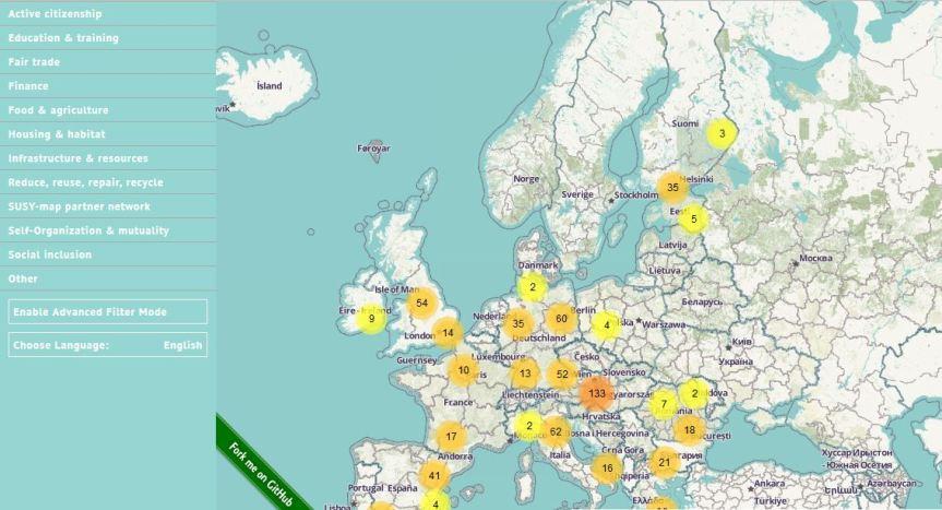 Solidaarisuustalouksien kartta